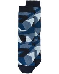 Calcetines de camuflaje azul marino de Diesel