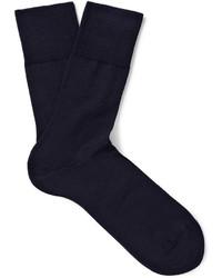 Calcetines de lana azul marino de Falke
