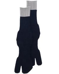 Calcetines de lana azul marino de Maison Margiela