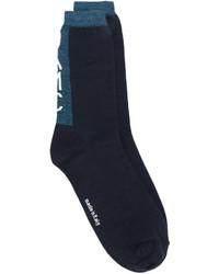 Calcetines de lana azul marino de Oamc