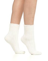 Calcetines de lana blancos