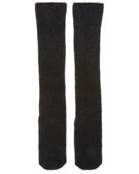 Calcetines de lana de punto negros de Isabel Benenato
