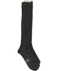 Calcetines de lana en gris oscuro de Eleventy