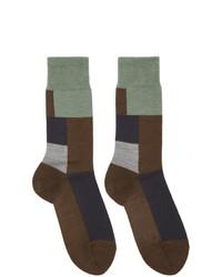 Calcetines de lana en marrón oscuro de GR-Uniforma