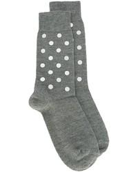 Calcetines de lana estampados grises de No.21