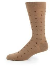 Calcetines de lana marrón claro
