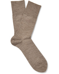 Calcetines de lana marrón claro de Falke