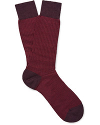 Calcetines de lana morado oscuro de Pantherella