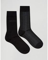 Calcetines de lana negros de Hugo Boss
