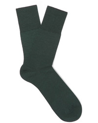 Calcetines de lana verde oscuro de Falke