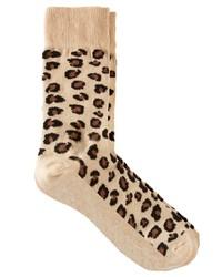 Calcetines de leopardo en beige de Asos