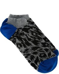 Calcetines de leopardo en gris oscuro de Diesel