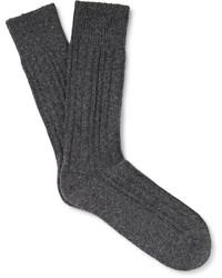 Calcetines de punto en gris oscuro de Hugo Boss