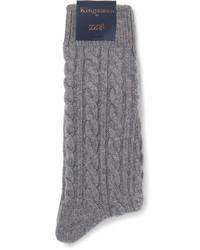 Calcetines de punto grises