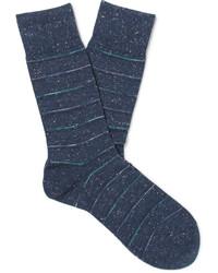 Calcetines de rayas horizontales azul marino de Falke