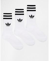 Calcetines de rayas horizontales blancos de adidas