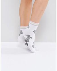 Calcetines de rayas horizontales blancos de Asos