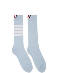 Calcetines de rayas horizontales celestes de Thom Browne