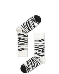 Calcetines de rayas horizontales en blanco y negro