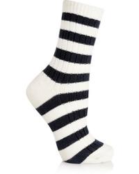 Calcetines de rayas horizontales en blanco y negro de Sonia Rykiel