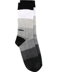 Calcetines de rayas horizontales en gris oscuro de Diesel