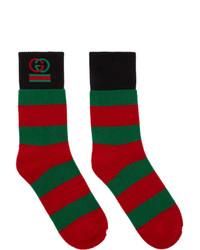 Calcetines de rayas horizontales en multicolor de Gucci