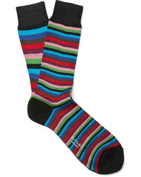 Calcetines de rayas horizontales en multicolor de Paul Smith