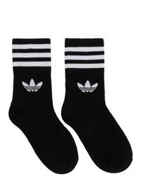 Calcetines de rayas horizontales en negro y blanco de adidas Originals