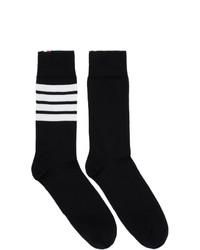 Calcetines de rayas horizontales en negro y blanco de Thom Browne