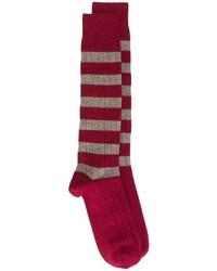 Calcetines de rayas horizontales en rojo y blanco de Church's