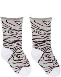 Calcetines de rayas horizontales grises de Kenzo