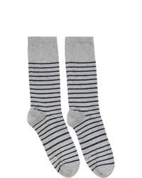 Calcetines de rayas horizontales grises de Saturdays Nyc