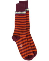 Calcetines de rayas horizontales morado oscuro de Paul Smith