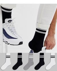 Calcetines de rayas horizontales negros de ASOS DESIGN