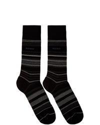 Calcetines de rayas horizontales negros de BOSS