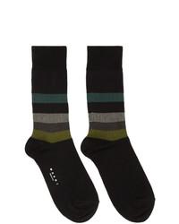 Calcetines de rayas horizontales negros de Marni