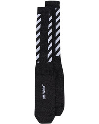 Calcetines de rayas horizontales negros de Off-White