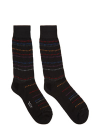 Calcetines de rayas horizontales negros de Paul Smith