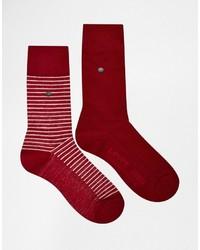 Calcetines de rayas horizontales rojos de Levi's
