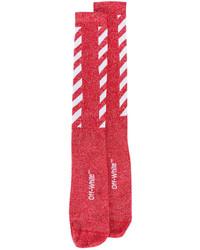 Calcetines de rayas horizontales rojos de Off-White