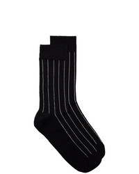 Calcetines de rayas verticales negros