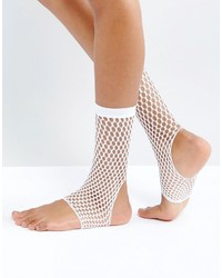 Calcetines de red blancos de Asos