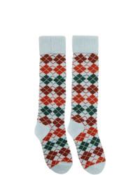 Calcetines de rombos en multicolor de Gucci