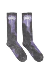 Calcetines efecto teñido anudado en gris oscuro de Palm Angels