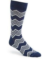 Calcetines en azul marino y blanco