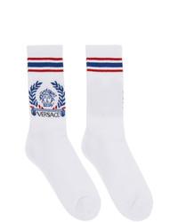 Calcetines en blanco y azul de Versace