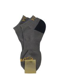 Calcetines en gris oscuro de Yohji Yamamoto