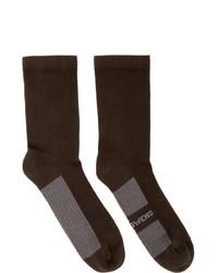 Calcetines en marrón oscuro de Rick Owens