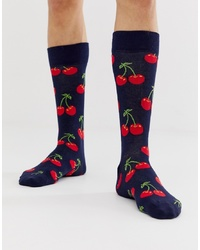 Calcetines estampados azul marino de Happy Socks