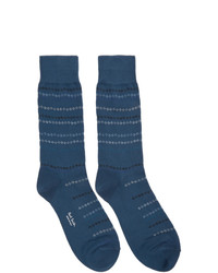 Calcetines estampados azul marino de Paul Smith